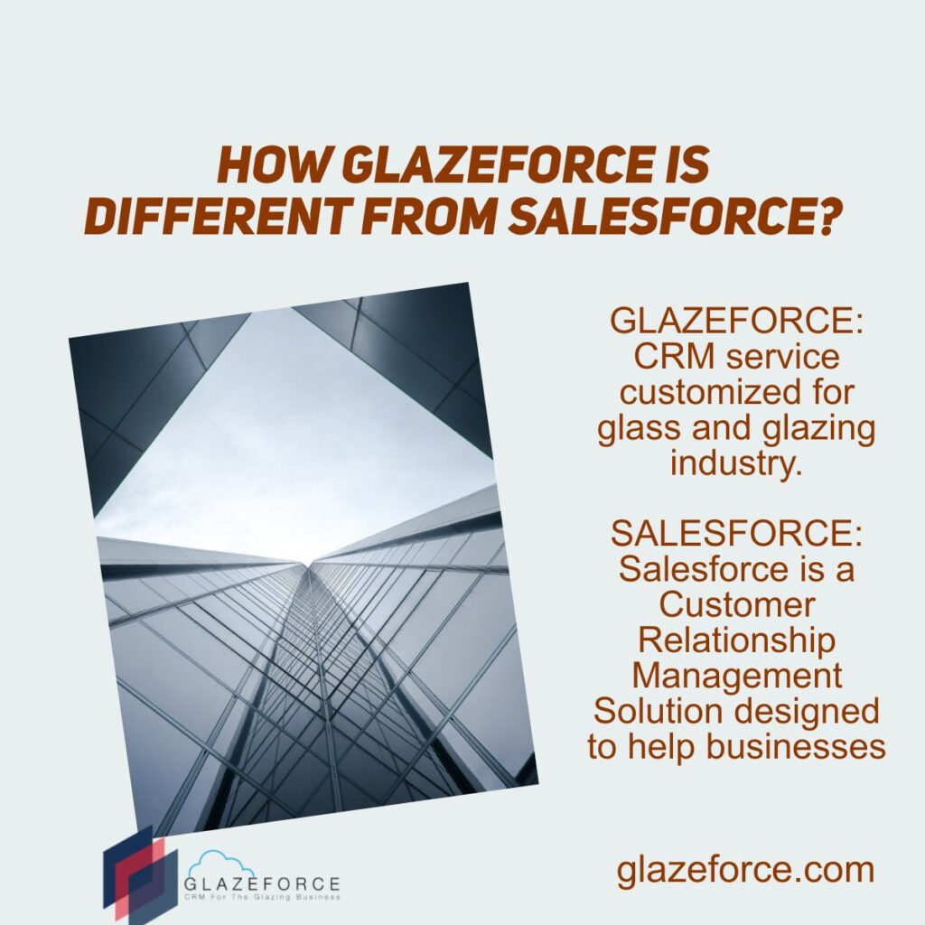 Difference between salesforce and glazeforce